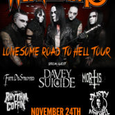 WEDNESDAY 13, DAVEY SUICIDE, FATE DESTROYED, DARLING DEAD, THE RHYTHM COFFIN, DUSTY MITCHELL, MORTIS, EMINENCE